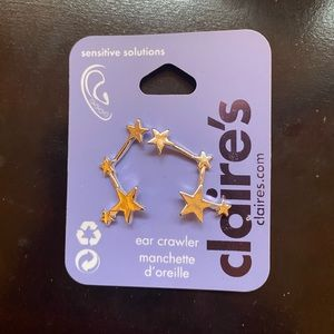 4/$20 NEW Claire's Star Ear Crawler Silver Earring